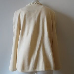 Dana Buchman Sweaters - DANA BUCHMAN WOOL IVORY TANK & CARDIGAN SET XL *